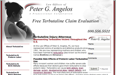 Law Offices of Peter G. Angelos: Terbutaline